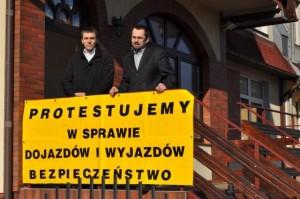 Protest mieszkańców Pustek Cisowskich